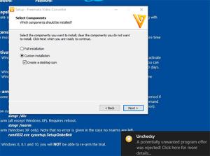 unchecky blocca adware di freemake converter