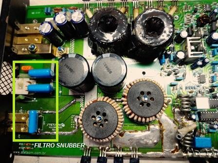 Capacitores circuito Snubber.