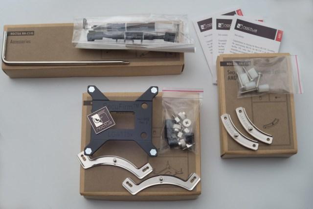 NH-C14S accesorios, SecuFirm2, adhesivo y NT-H1