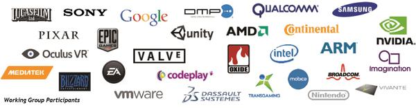 Empresas actuales que participan en el desarrollo de Vulkan