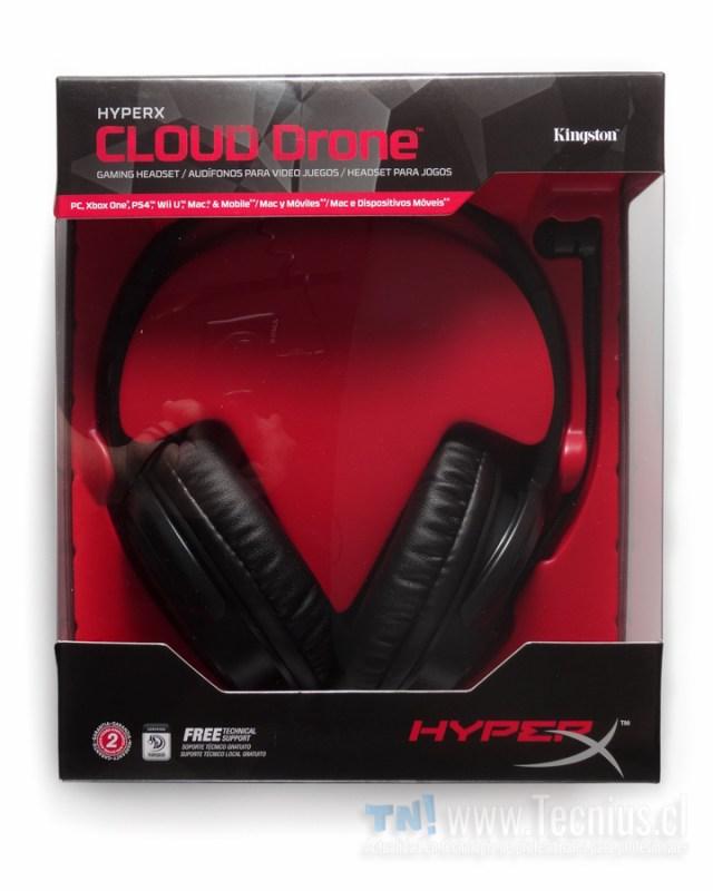 HyperX Cloud Drone caja frontal