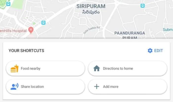 Google Maps 9.72.2 introduce 14 scorciatoie per accedere a