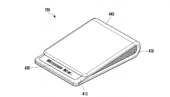 Samsung: nuove immagini del primo smartphone pieghevole
