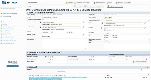 Infoseg - Registro de partes de trabajo