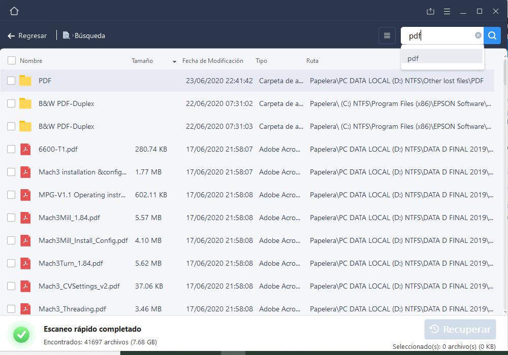 EaseUS Data Recovery: Recuperación de archivos de la papelera