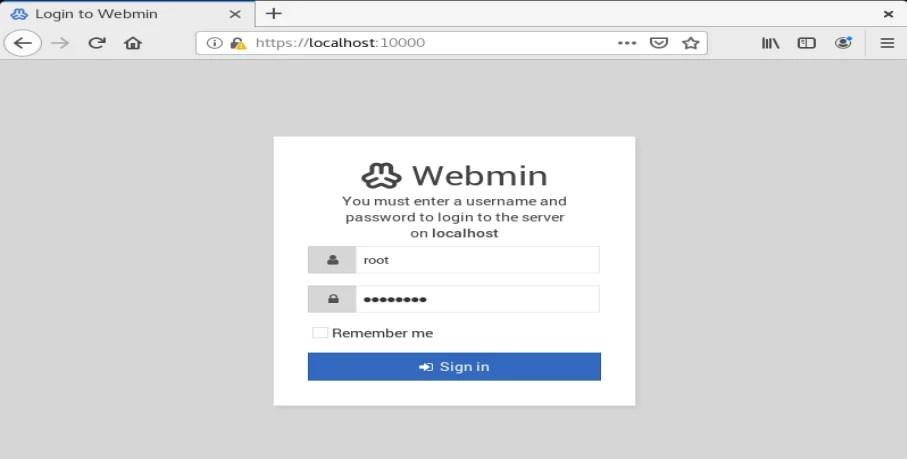 Webmin rpm para configurar samba