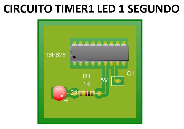TImer1 PIC16f628 1 segundo
