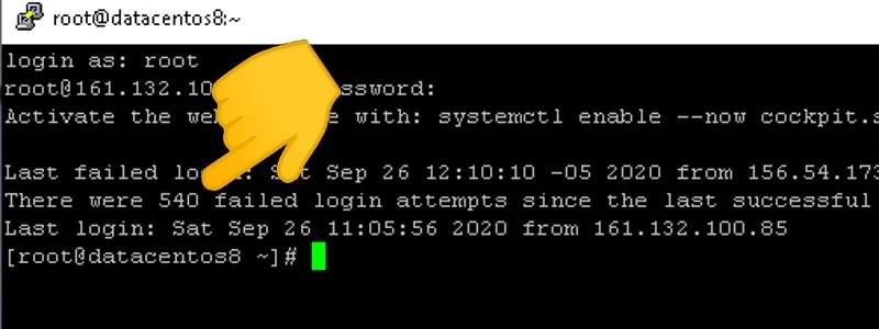 centos server hackeado