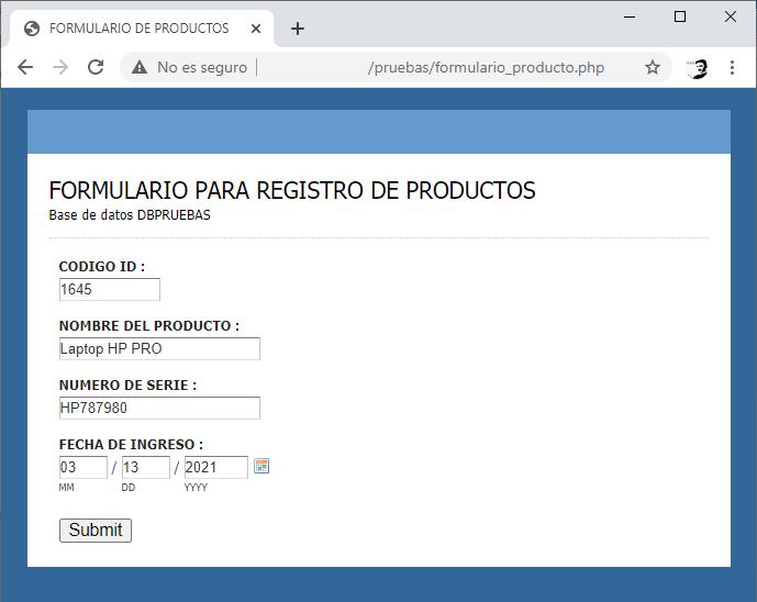 Consulta y registro a una base de datos MySQL con PHP