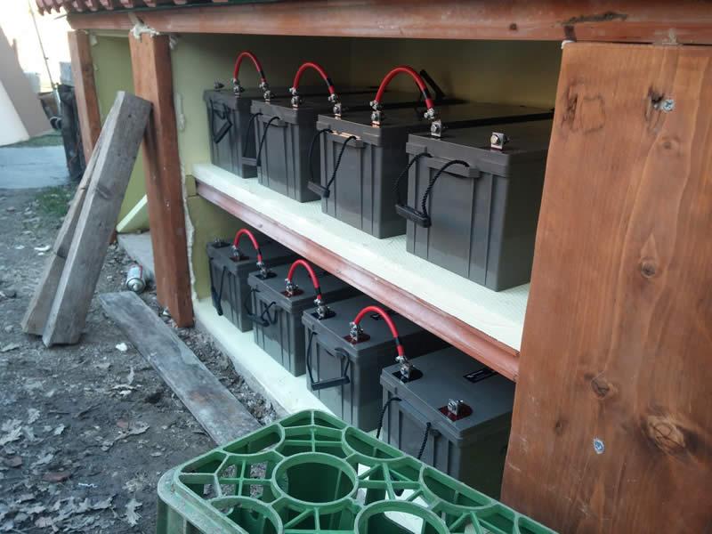 Impianto Fotovoltaico ad Isola con batterie di accumulo da