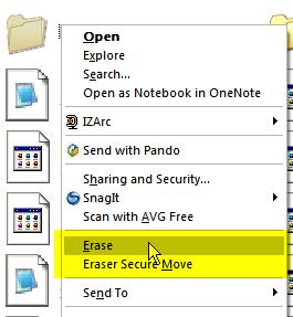 Elimine completamente seus arquivos