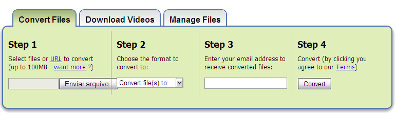 Como converter arquivos docx, xlsx e pptx