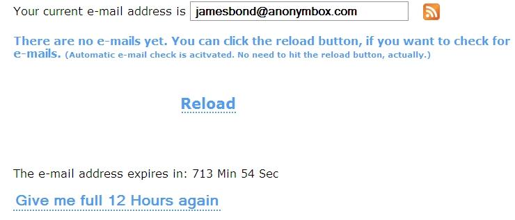 Email anônimo?