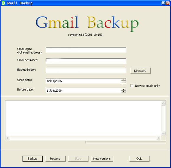 Backup do Gmail