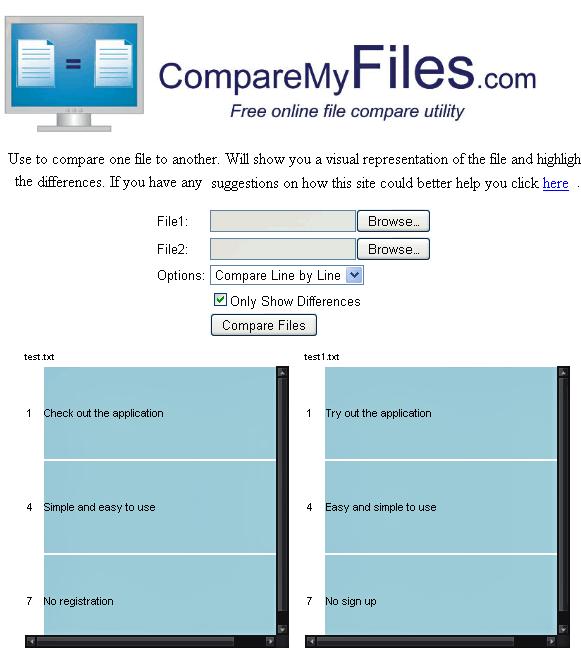 Como comparar arquivos e achar diferenças?