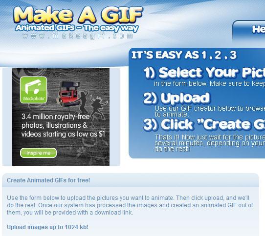Faça GIFs animadas online