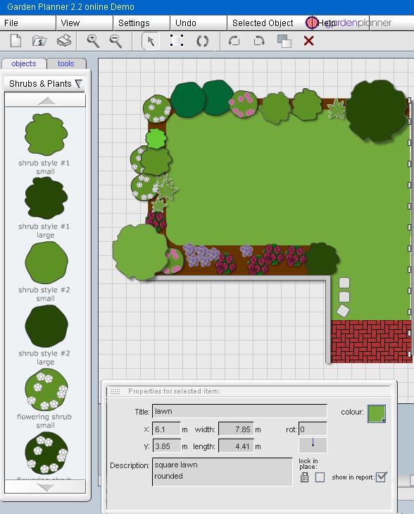 Planeje seu jardim online