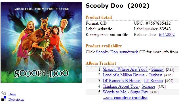 Catálogo de trilhas sonoras de filmes