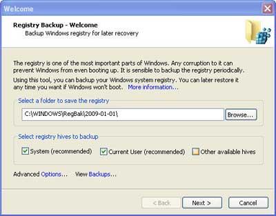 Como fazer backup do registro do Windows