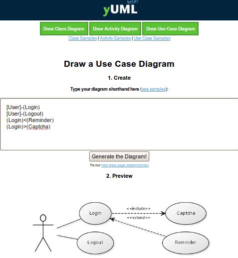 Crie diagramas UML online