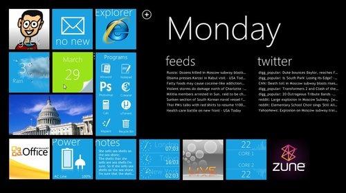 Windows XP com visual do Windows Phone 7