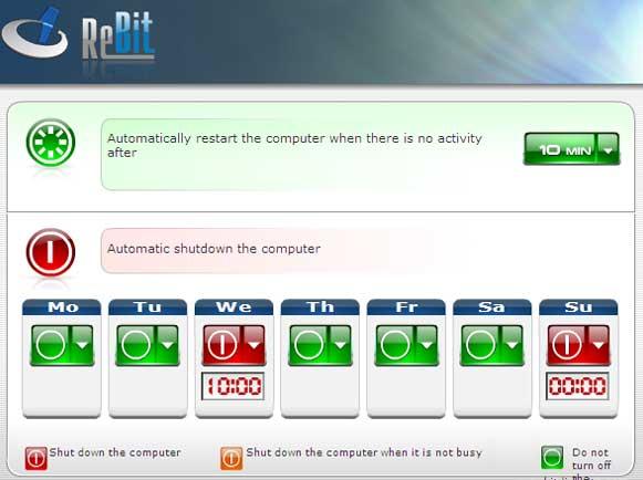 Desligue ou reinicie o computador automaticamente