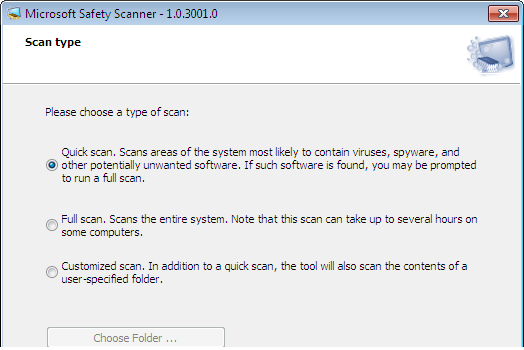 Microsoft Safety Scanner: Download grátis