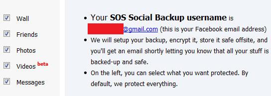 5GB grátis para fazer backup da sua conta do Facebook