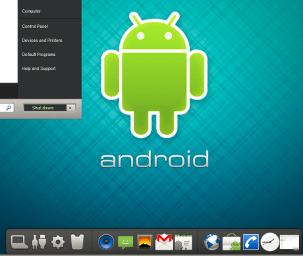 Deixe o Windows 7 com visual do Android