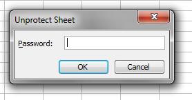 Código VBA para tirar proteção de planilha Excel
