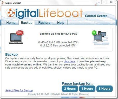 Backup online com 10GB de espaço grátis