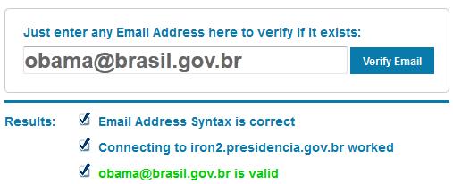 Ferramenta para validar se um endereço de email existe