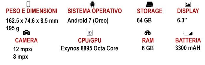 Scheda Tecnica Galaxy Note 8