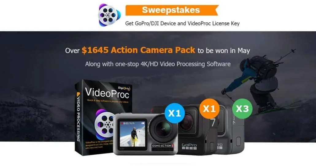 Contest GoPro e action cam VideoProc