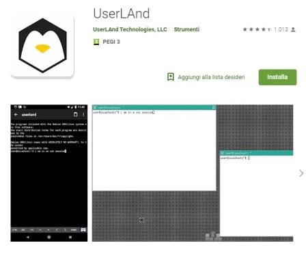 Scaricare app UserLand per hackerare con Kali Linux su Android