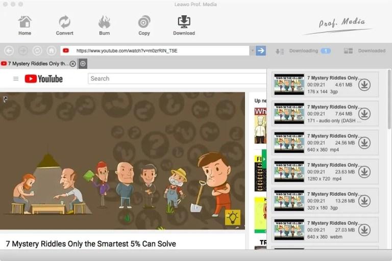 Come scaricare video con Leawo Video Downloader