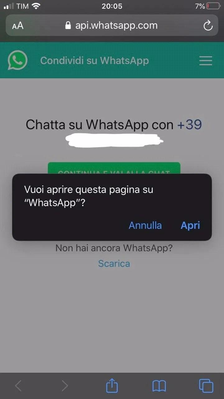 Come scrivere ad un numero non salvato su WhatsApp