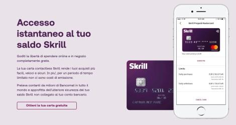 Skrill: invio denaro all'estero con 15€ bonus