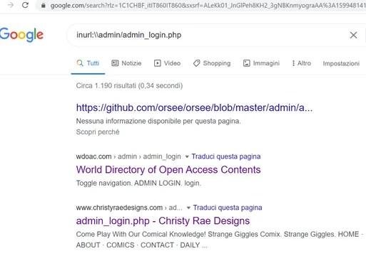 Come sfruttare al meglio le Google Dorks