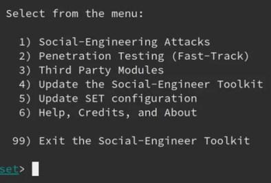 Phishing con Social Engineering Toolkit