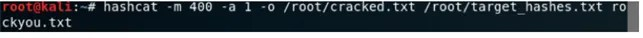 Cracking delle password con il tool HashCat