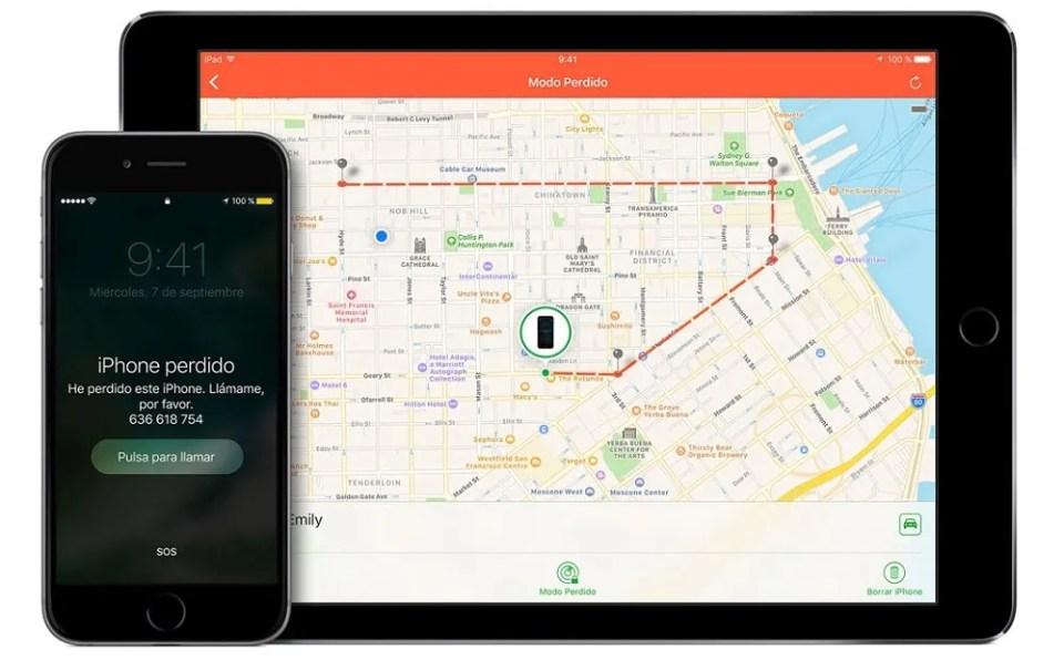 Cómo encontrar un móvil iOS