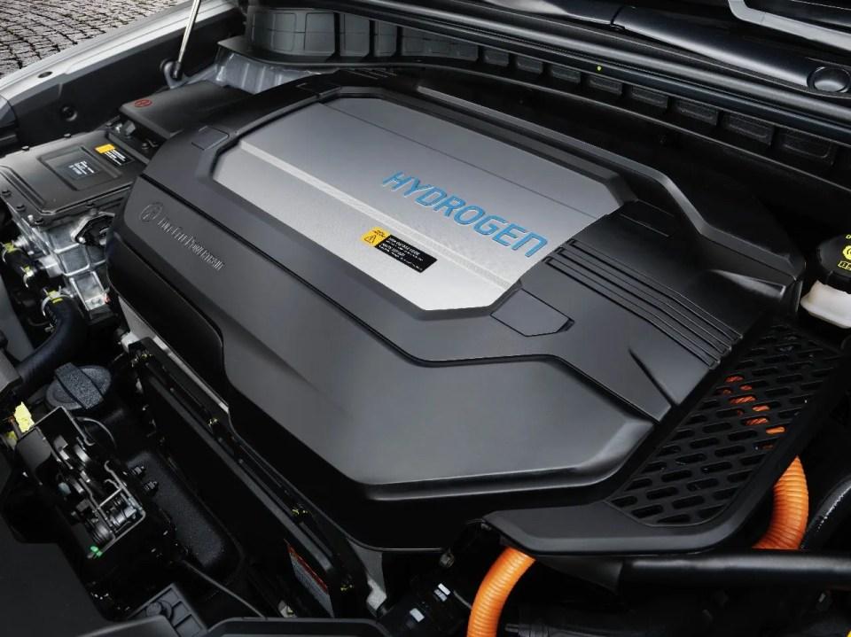 motor de coche de hidrógeno