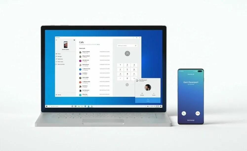 hacer llamadas en tu teléfono desde Windows 10