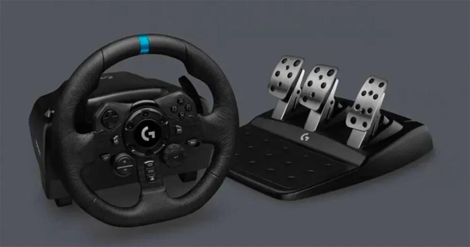 Volante para videojuegos de conducción