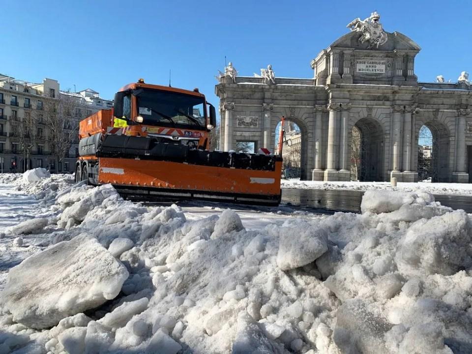 Madrid también se vio afectada por las heladas en nuestro país