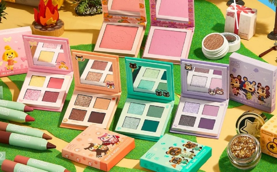 La línea de maquillaje oficial de Animal Crossing New Horizons es de ColourPop y Nintendo