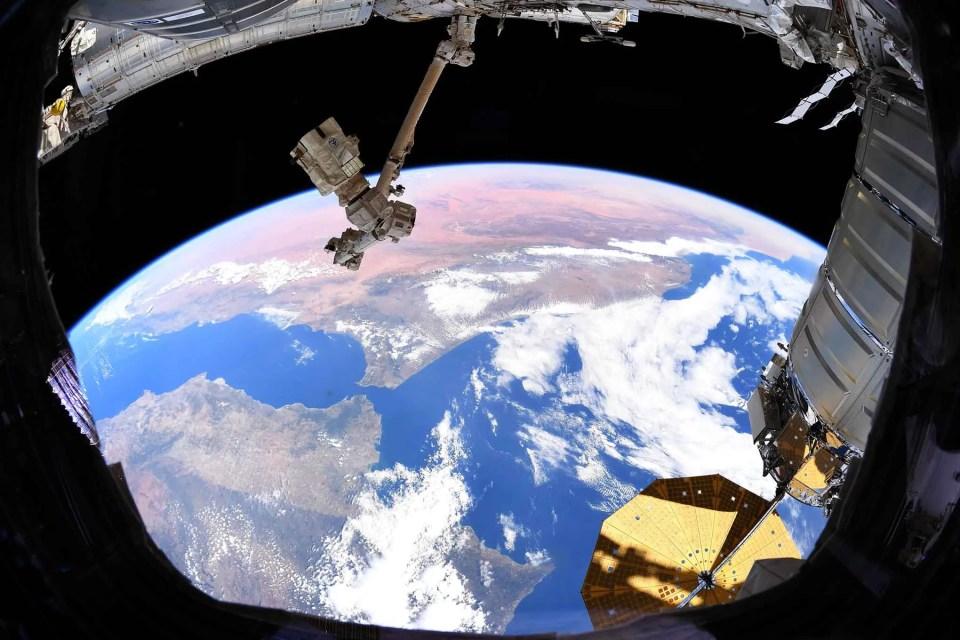tierra desde la Estación Espacial Internacional