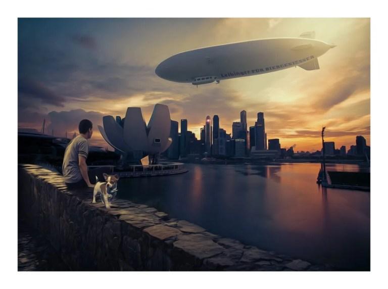 El dirigible es un medio de transporte silencioso