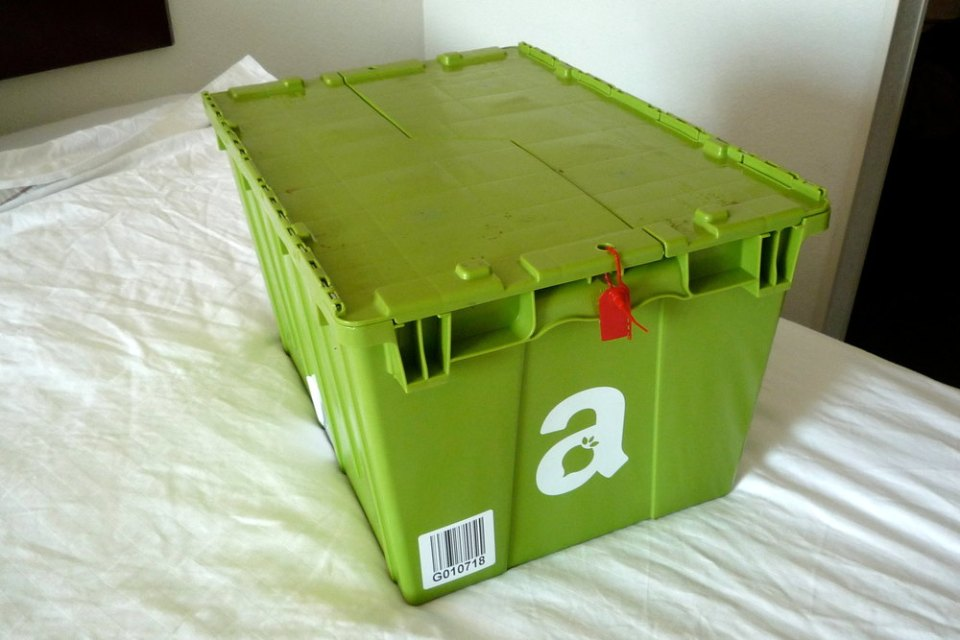 Caja de Amazon Fresh